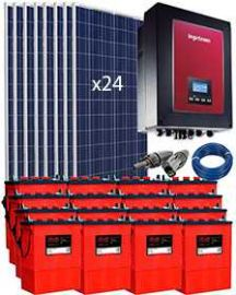Kit Grid Tied PV System 6000W with Battery 25000Wh